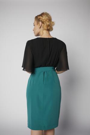 Rochie Kate verde cu negru [3]