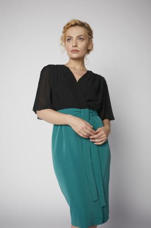 Rochie Kate verde cu negru [0]