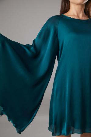 Rochie NALA verde cu maneci largi [3]