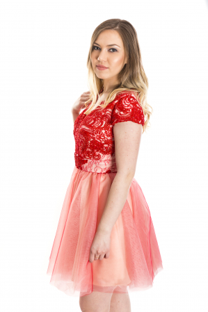 Rochie Roxy Rosie cu dantela florala [1]