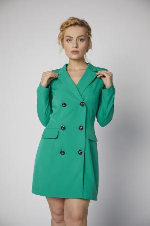 Rochie-sacou Britney de culoare verde [0]