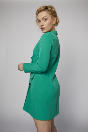 Rochie-sacou Britney de culoare verde [2]