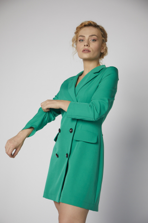 Rochie-sacou Britney de culoare verde [1]