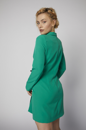Rochie-sacou Britney de culoare verde [4]