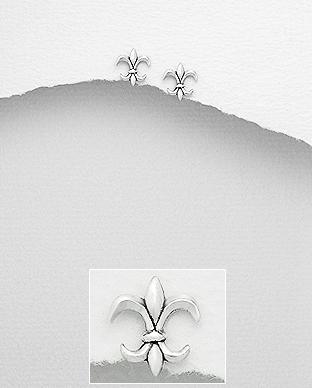 Cercei Fleur de Lis din argint 1C-353 0