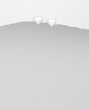 Cercei inima din argint simplu 1C-125 0
