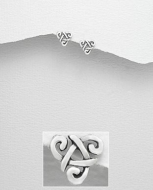 Cercei molde celtic triunghi din argint 1C-224 0