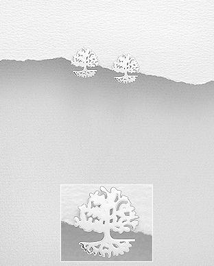 Cercei din argint tree of life 1C-336 0