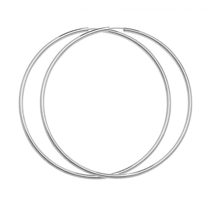 Cercei creole mari 70 mm din argint CH21-046 0