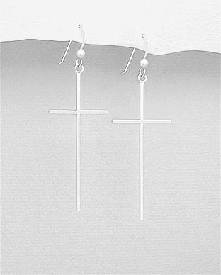 Cercei cruce din argint 1C-305 - bijuterii din argint 0