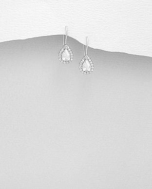 Cercei mici eleganti cu cubic zirconia 1C-60A 0