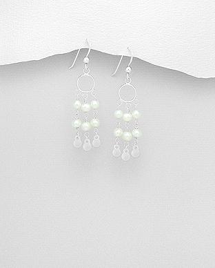 Cercei din argint lungi cu perle de cultura - Elmio.ro 0