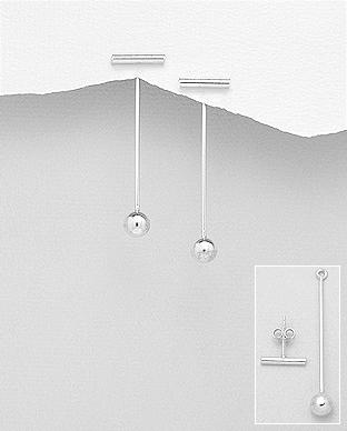 Cercei dubli din argint bobita 1C-312 - elmio 0