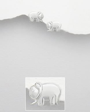 Cercei elefant din argint 1C-144 0