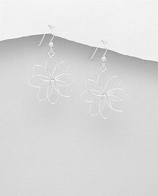 Cercei din argint - floarea vietii 1C-341 [0]