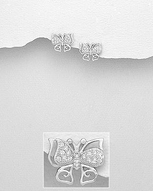 Cercei din argint butterfly 1C-106 [0]