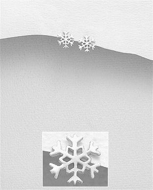 Cercei fulg de zapada din argint 1C-207 - Elmio.ro 0