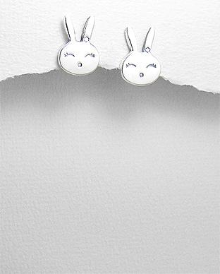 Cercei iepuras Bunny din argint C1-347 0