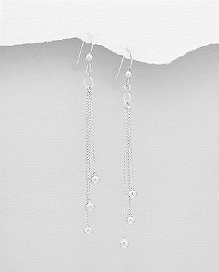 Cercei lungi din argint cu bilute 1C-146 0