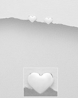 Cercei mici inimioara din argint 1C-290 0