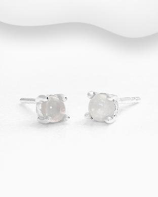 Cercei mici cu opal alb - Freya 1C-286 - Elmio 0