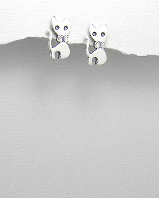 Cercei pisica din argint 1C-346 0