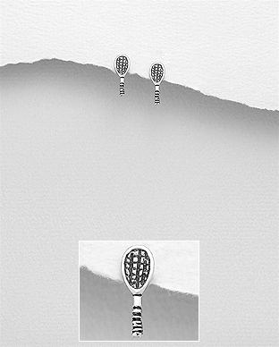 Cercei racheta de tenis din argint 1C-359 0