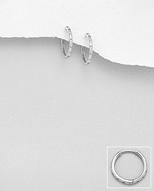 Cercei rotunzi cubic zirconiu din argint 1C-69 - elmio 0