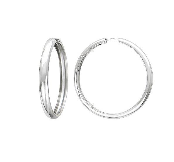 Cercei rotunzi lati din argint CH215-046 [0]