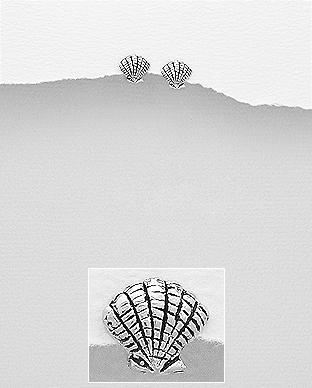 Cercei mici model scoica din argint 1C-351 0