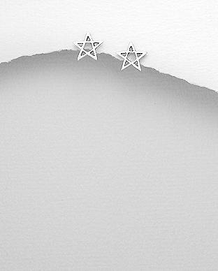 Cercei Stea din argint 925 1C-197 0