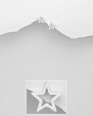 Cercei steluta din argint 1C-198 0