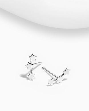 Cercei stelute din argint 1C-163 0