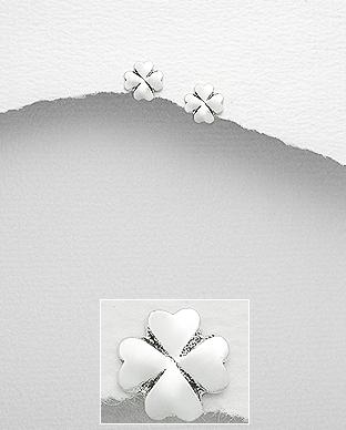 Cercei trifoi din argint 1C-361 - Bijuterii argint 0