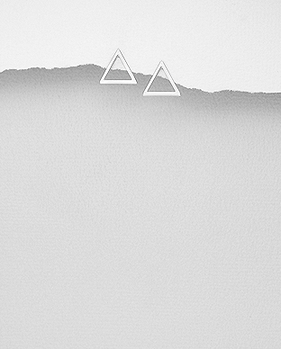Cercei triunghi din argint 1C-202 0