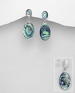 Cercei argint cu abalone verde - Melanie 1C-45 [0]