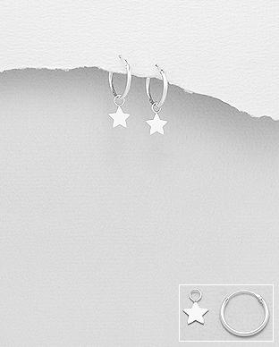 Cercei veriga mica cu steluta din argint 1C-154 0