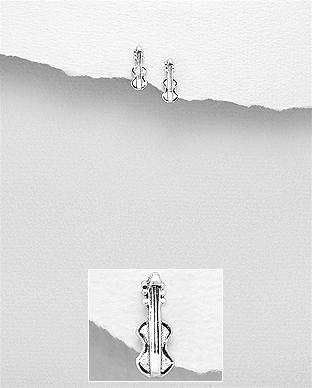 Cercei vioara din argint 1C-358 0
