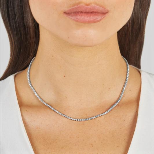 Choker Tennis din argint cu cristale CL-2005M [1]