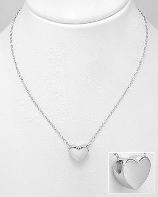 Colier din argint cu inima Love 1CL-289 - Elmio.ro 0