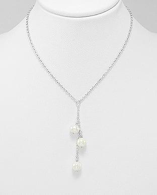 Colier din argint cu perle de cultura 1CL-11 - Elmio.ro 0