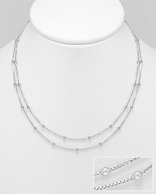 Colier din argint din doua siraguri 1CL-131 0