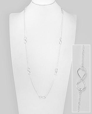 Colier lung din argint cu 9 pandantive infinit 1CL-215 0