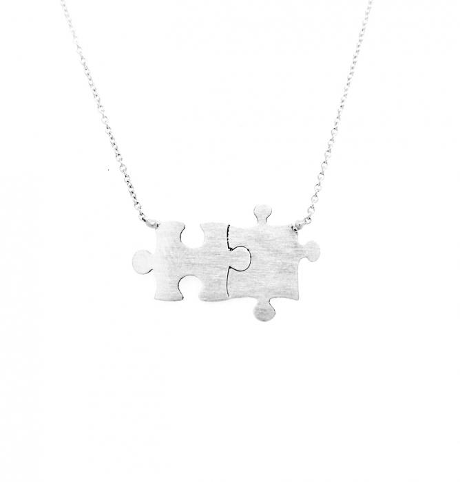 Colier puzzle din argint CL12MAF-106 0