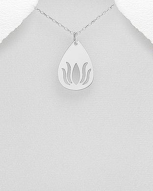 Pandantiv argint - Floare de Lotus 1P-339 [0]