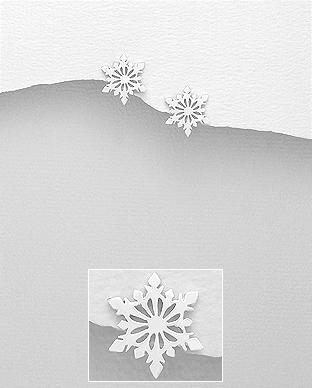 Fulg de zapada cercei din argint 1C-199 - Elmio.ro 0