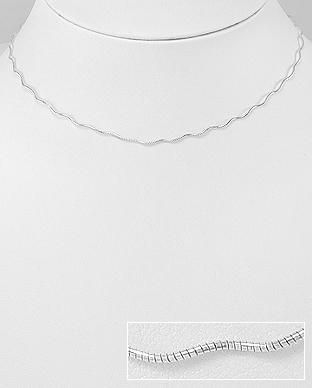 Lant la baza gatului model sarpe din argint 1CL-394 - Elmio.ro 0
