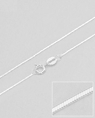 Lant Snake din argint fatetat 50 cm L-720-1L 0