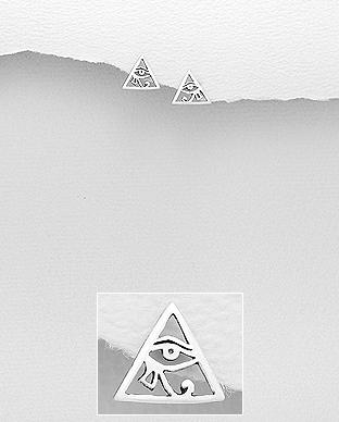 Cercei Ochiul lui Horus din argint 1C-155 0