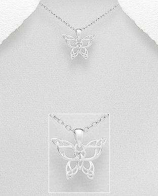 Pandantiv argint fluturas celtic 1P-227 0